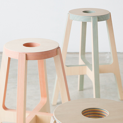paper wood stool thumb